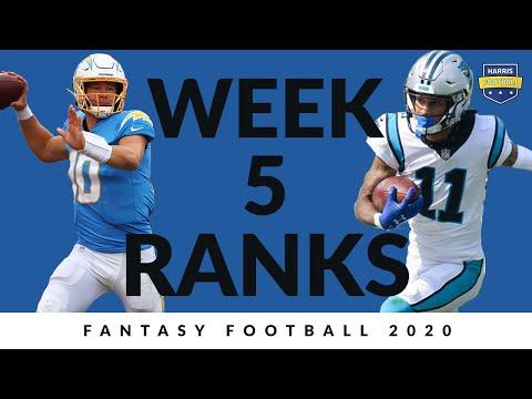 Week 5 Rankings – Fantasy Football 2020