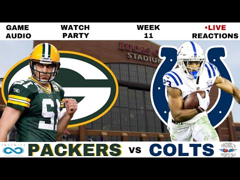 NFL WEEK 11: Green Bay Packers vs Indianapolis Colts: Game Audio/Scoreboard/Reactions
