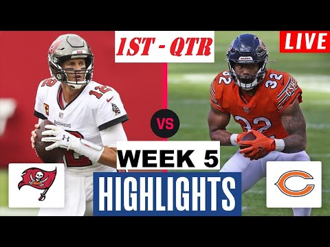 Chicago Bears vs Tampa Bay Buccaneers Highlights 1st QTR | NFL Week 5 | Thursday Night Football