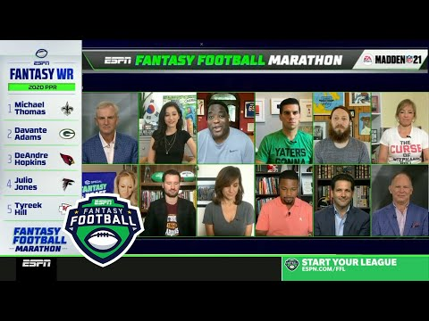 2020 ESPN NFL Fantasy Football Draft Marathon