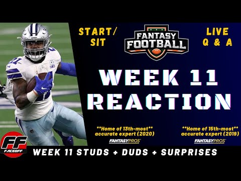 NFL Week 11 Recap and Reaction + Fantasy Football Studs, Duds & Takeaways – ASK YOUR QUESTIONS