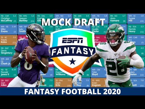 2020 Fantasy Football Mock Draft (PPR)- 8 Team- Pick 4