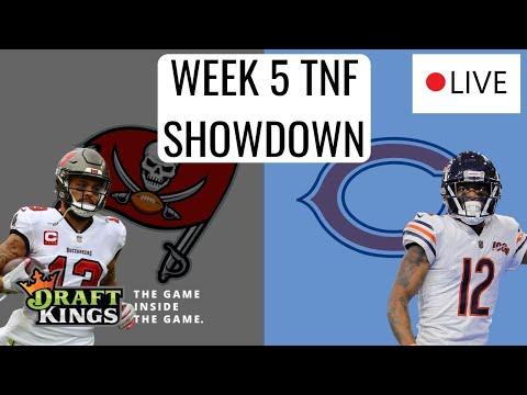 LIVE DRAFTKINGS TNF SHOWDOWN ANALYSIS (BUCS/BEARS) | DFS PICKS