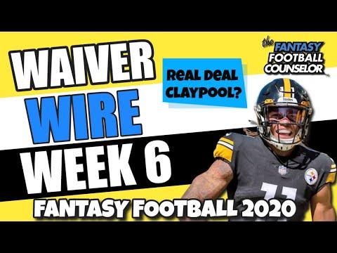 Week 6 Waiver Wire Pickups – Fantasy Football 2020