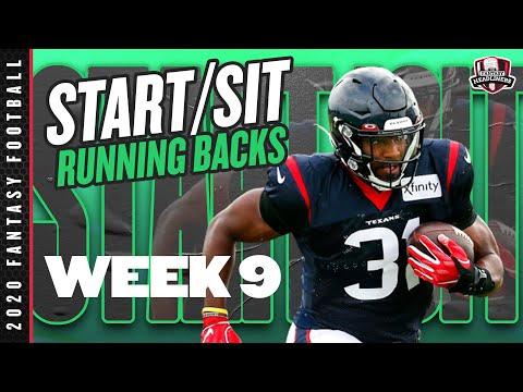 2020 Fantasy Football Advice – Week 9 Running Backs – Start or Sit? Every Match Up