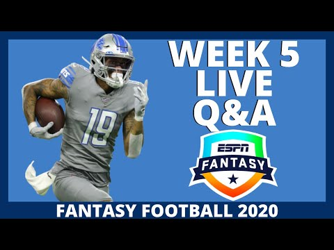 2020 Fantasy Football – Week 5 Live Q&A – Fantasy Football Advice