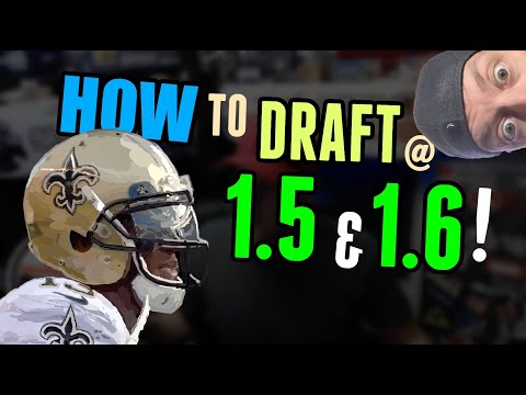How to DRAFT from 1.5 and 1.6 in 2020 Fantasy Football?