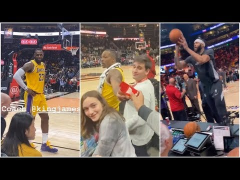Dwight Howard handing out gum to fans in Atlanta, JaVale McGee playing catch with them