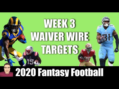 Week 3 Top Waiver Wire Targets – 2020 Fantasy Football