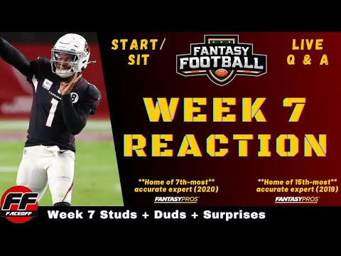NFL Week 7 Recap and Reaction + Fantasy Football Studs, Duds & Takeaways – ASK YOUR QUESTIONS