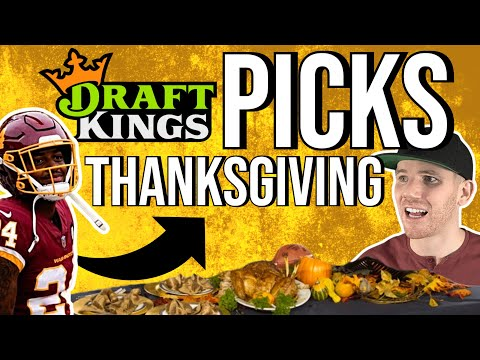 Thanksgiving Football Picks🏈 DraftKings NFL DFS | DraftKings Picks, DFS Picks & Predictions, Fanduel