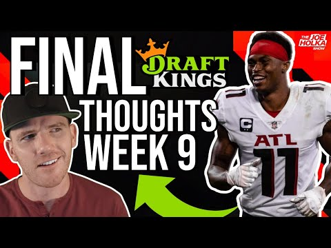 (LIVE) Week 9 Fantasy Football Final Thoughts🏈DraftKings NFL DFS,  Daily Fantasy Football NFL Week 9