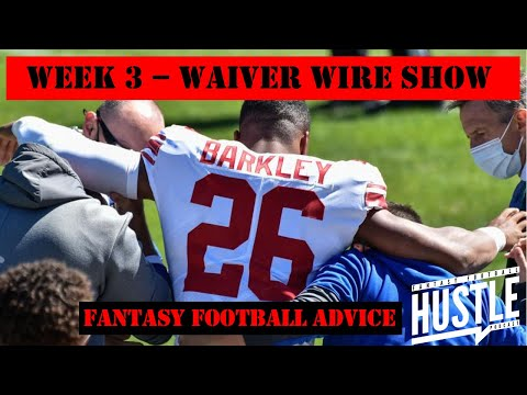 Week 3 Waiver Wire – RB Injury Armageddon!!   Fantasy Football Hustle Podcast – Full Show