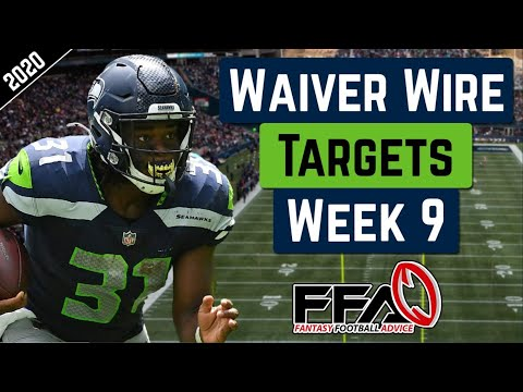 Top Waiver Wire Targets – Week 9 – 2020 Fantasy Football Advice