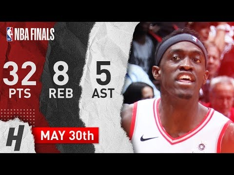 Pascal Siakam Full Game 1 Highlights Raptors vs Warriors 2019 NBA Finals – 32 Pts, 5 Ast, 8 Reb!