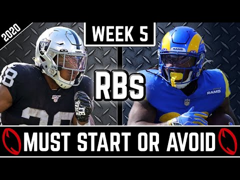 Must Start and Avoid – Running Backs – 2020 Fantasy Football Advice (Week 5)