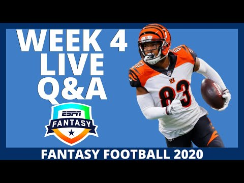 2020 Fantasy Football – Week 4 Live Q&A – Fantasy Football Advice