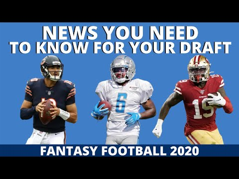 News You NEED to KNOW Before Drafting – 2020 Fantasy Football