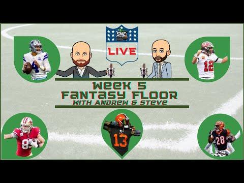 NFL WEEK 5 LIVE FANTASY FLOOR- SNE NETWORK