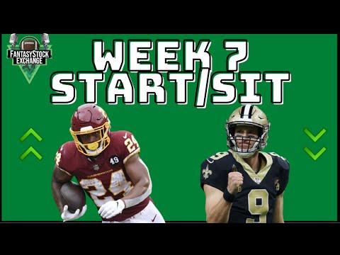 Week 7 Starts & Sits – 2020 Fantasy Football