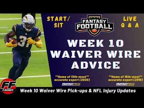 Week 10 Waiver Wire Pickups for Fantasy Football + NFL Injuries + ASK YOUR LINEUP QUESTIONS