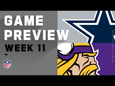 Dallas Cowboys vs. Minnesota Vikings | NFL Week 11 Game Preview