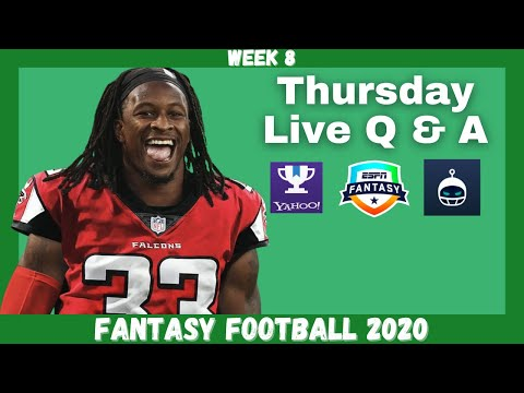 Fantasy Football 2020 | Week 8 Thursday Q & A Live Stream
