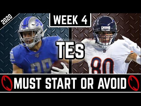 Must Start and Avoid – Tight Ends – 2020 Fantasy Football Advice (Week 4)