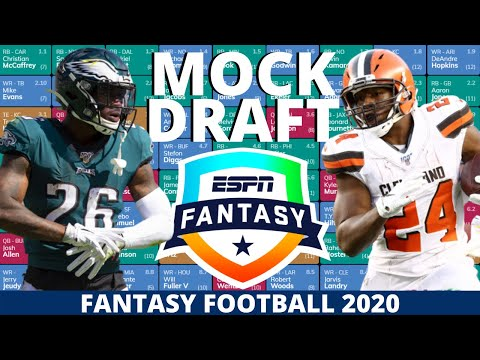 2020 Fantasy Football Mock Draft (Half-PPR) – 10 Team- Pick 6