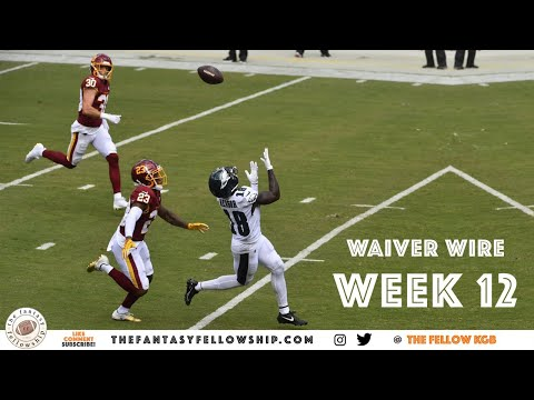 2020 Fantasy Football – Week 12 Waiver Wire