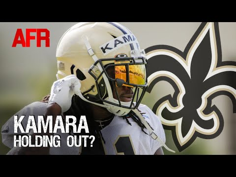 Is Alvin Kamara holding out for a new deal?