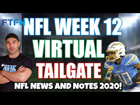 NFL Week 12 Virtual Tailgate