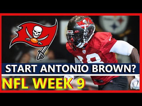 Should You Start or Sit Antonio Brown in Week 9 | Fantasy Football |