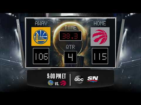 Warriors @ Raptors LIVE Scoreboard – Join the conversation and catch all the action on #NBAonABC!