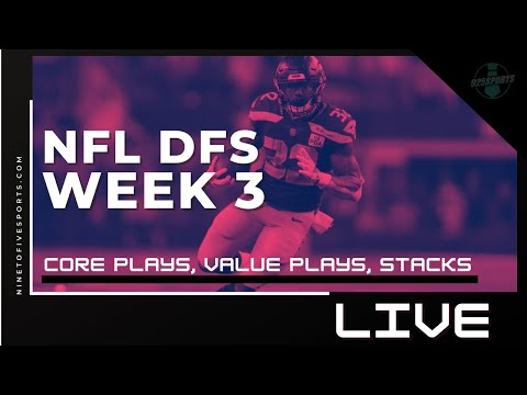 NFL DFS LIVE: Week 3 2020