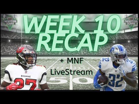 Week 10 Recap & Monday Night Football Livestream