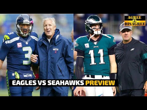 Eagles vs Seahawks Monday Night Football PREVIEW & PREDICTIONS | Agree 2 Disagree
