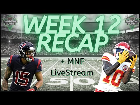Week 12 NFL Recap+Monday Night Football Live Stream