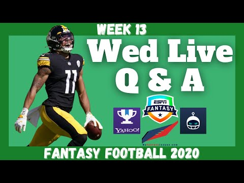 Fantasy Football 2020 | Week 13 Wednesday Q & A Live Stream