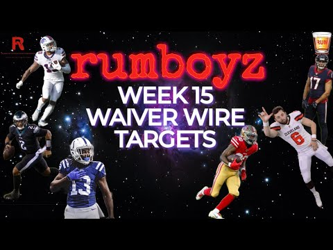 Fantasy Football Waiver Wire Show week 15