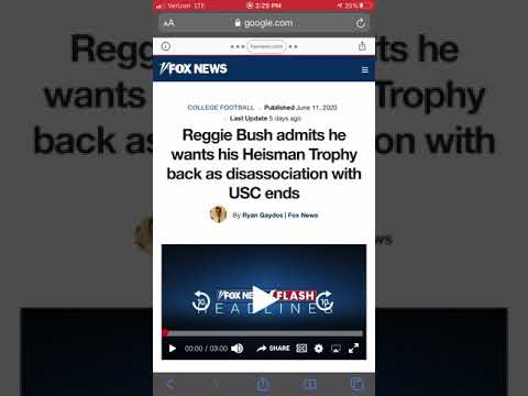 The NCAA screwed over Reggie Bush | Bush is allowed back at USC, but will he get his Heisman Back?