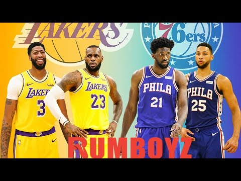 Los Angeles Lakers vs Philadelphia 76ers NBA Basketball