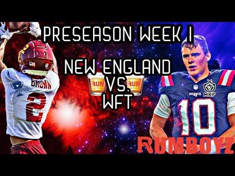 Washington Football Team vs New England Patriots NFL Preseason