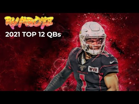 Fantasy Football Top 12 QB's Rankings!