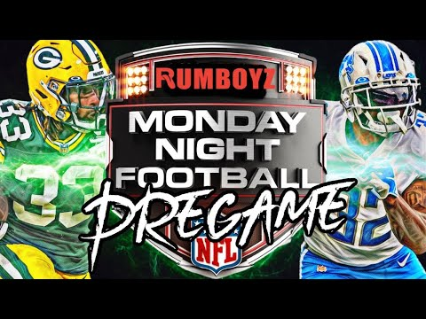 Monday Night Football Detroit Lions vs Green Bay Packers pregame show!