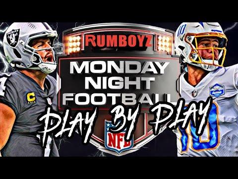 Monday Night Football Las Vegas Raiders vs Los Angeles Chargers week 4 2021!