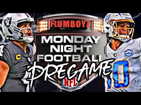 Monday Night Football Las Vegas Raiders vs Los Angeles Chargers pregame show!
